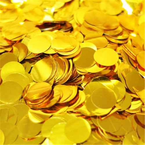 Конфетти Золото Кружки 50 гр. 1 шт.