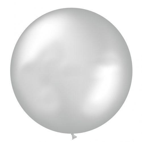 """Шар (24""""/61 см) Металлик Серебро 1 шт. (Мексика)"""