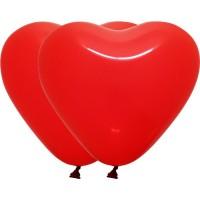 """Шар (18""""/41 см) Сердце, Красный, Пастель 100 шт. (Колумбия)"""