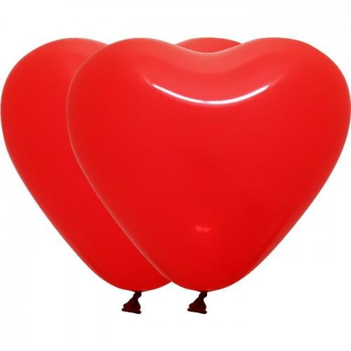 """Шар из латекса (18""""/41 см) Сердце, Красный, Пастель 100 шт. (Колумбия)"""