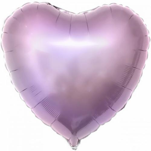"""Шар из фольги (18""""/46 см) Сердце Сиреневый в 1 уп. 5 шт.  (FM) (Испания)"""