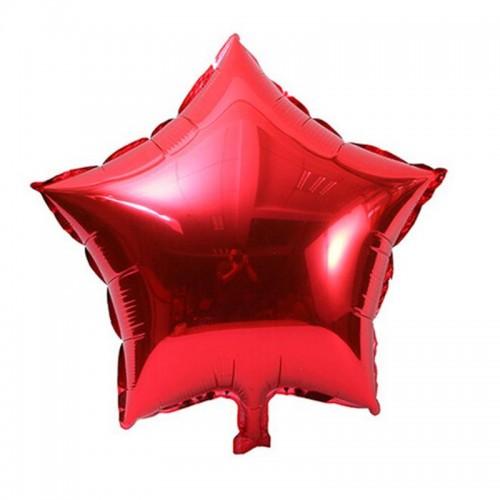 """Шар (18""""/46 см) Звезда Красный 5 шт.  (FM) (Испания)"""