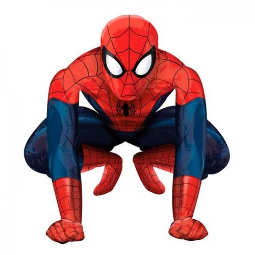 """Шар (40""""/134 см) Ходячая фигура Человек паук 1 шт."""