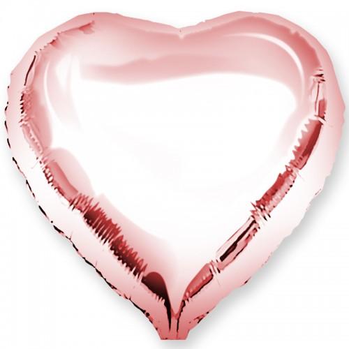"""Шар из фольги (18""""/46 см) Сердце Розовое Золото в 1 уп. 5 шт.  (FM) (Испания)"""