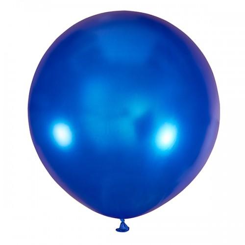 """Шар (24""""/61 см) Металлик Синий 1 шт."""