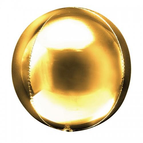 """Шар (24""""/61 см) Сфера 3D Золото 1 шт. (Китай)"""