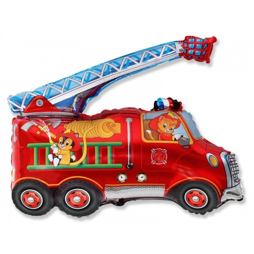 """Шар (38""""/97 см) Фигура Пожарная Машина 1 шт. (FM) (Испания)"""