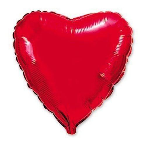 """Шар из фольги (18""""/46 см) Сердце Красное в 1 уп. 5 шт.  (FM) (Испания)"""