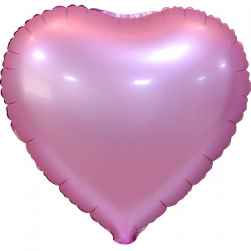 """Шар из фольги (18""""/46 см) Сердце Розовый в 1 уп. 5 шт.  (FM) (Испания)"""
