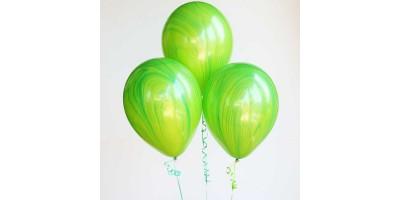 """Шар (11""""/28 см) Агат Зеленый 25 шт. (Америка)"""