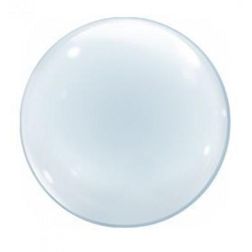"Шар (24""/61 см) Сфера 3D, Deco Bubble, Прозрачный, 1 шт. (Америка)"