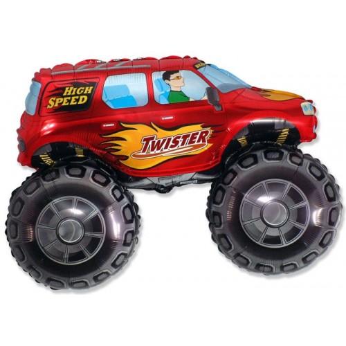 """Шар (33""""/84 см) Фигура Машина Джип Красный 1 шт.  (FM) (Испания)"""