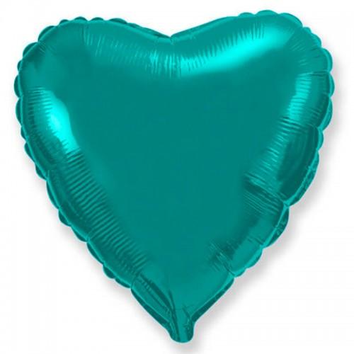 """Шар из фольги (18""""/46 см) Сердце Тиффани в 1 уп. 5 шт.  (FM) (Испания)"""