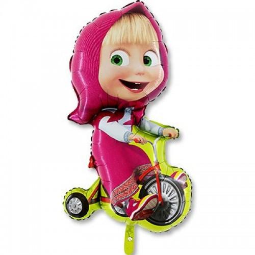 """Шар (40""""/102 см) Фигура Маша на велосипеде 1 шт."""