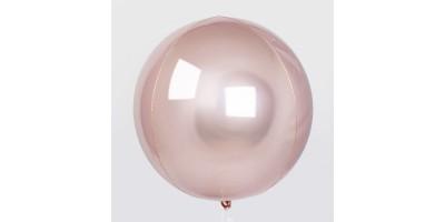 """Шар (24""""/61 см) Сфера 3D Розовое золото 1 шт. (Китай)"""