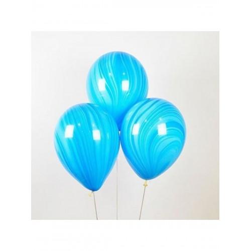 """Шар (11""""/28 см) Агат Голубой 25 шт. (Америка)"""